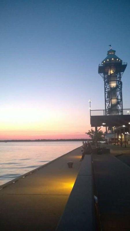 Sunset Water Night Sky Outdoors Illuminated Bayfront Erie Sun Set Erie Pennsylvania Erie County Eriepa