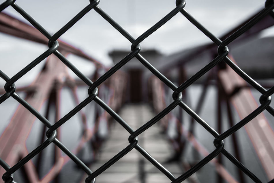 Restricted. Chainlink Fence Fence Metal Security Protection Safety Focus On Foreground No People Pattern Outdoors Full Frame Day Close-up Backgrounds Crisscross Depth Of Field Pennsylvania Beauty Pennsylvania EyeEm EyeEm Best Shots Bokeh