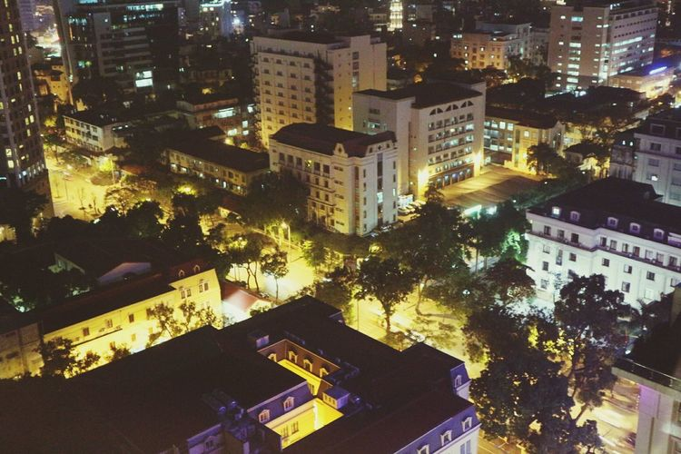 Illuminated Night City Cityscape Building Exterior Architecture Travel Destinations Outdoors Midnight Cityscape Hanoi Vietnam  Hanoi, Vietnam Cityview Tourist Attractions View From Above View From The Top Embrace Urban Life