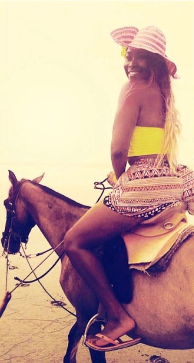 🐎🌸💗 Ecuador♥ That's Me Beach Love Horses! Caballos Mompiche Esmeraldas Decameron Smiling Always :)