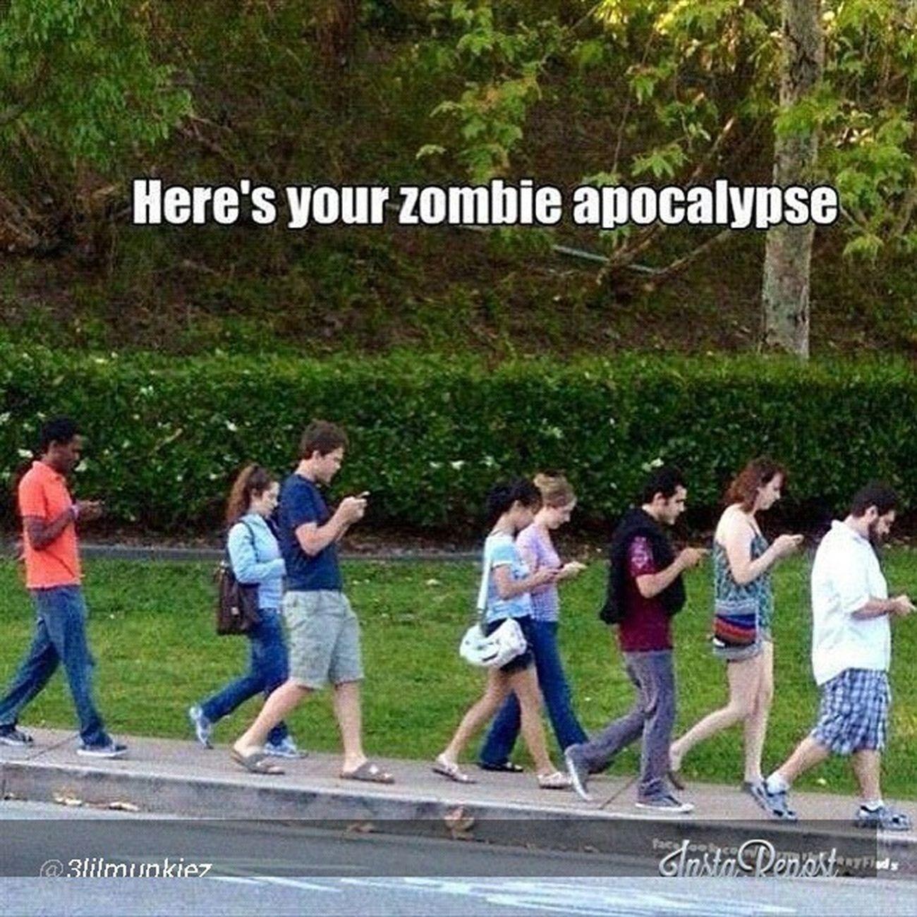It's already here! Zombieapocalypse Zombie Zombies