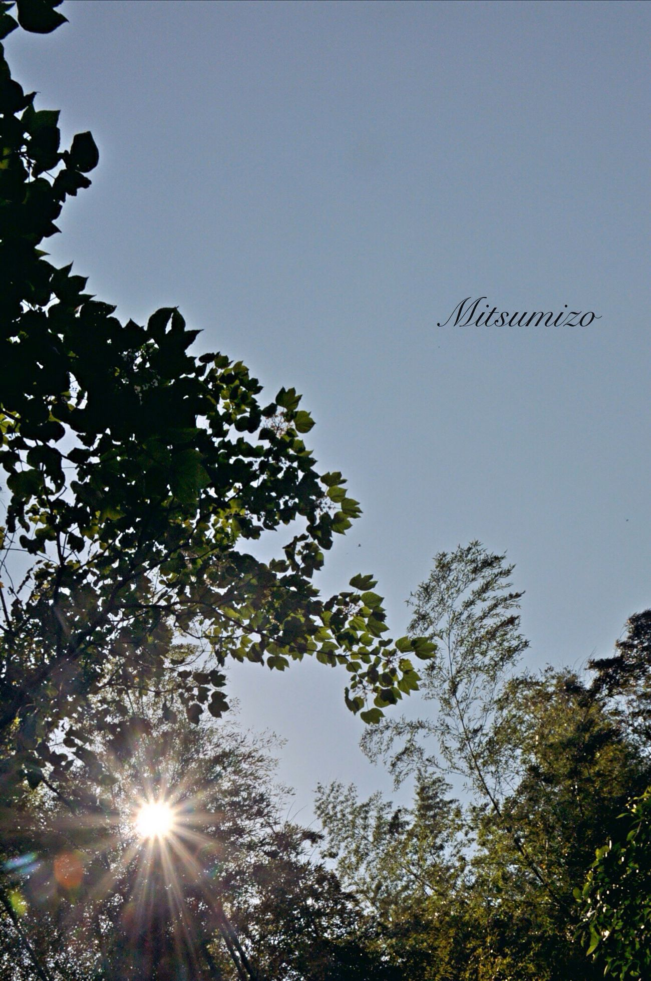 2:00 yesterday afternoon 昨日の午後2時 Tadaa Community Sky Sun 空 太陽