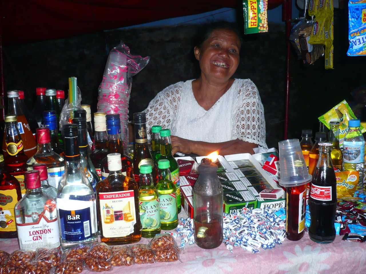 Alcohol Booze Bottle Cheerful Drink Fiesta Siquijor, Philippines Smiling
