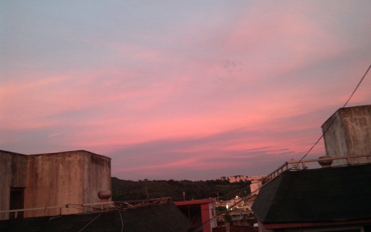 Sky And Clouds Sunset A Ruddy Sky
