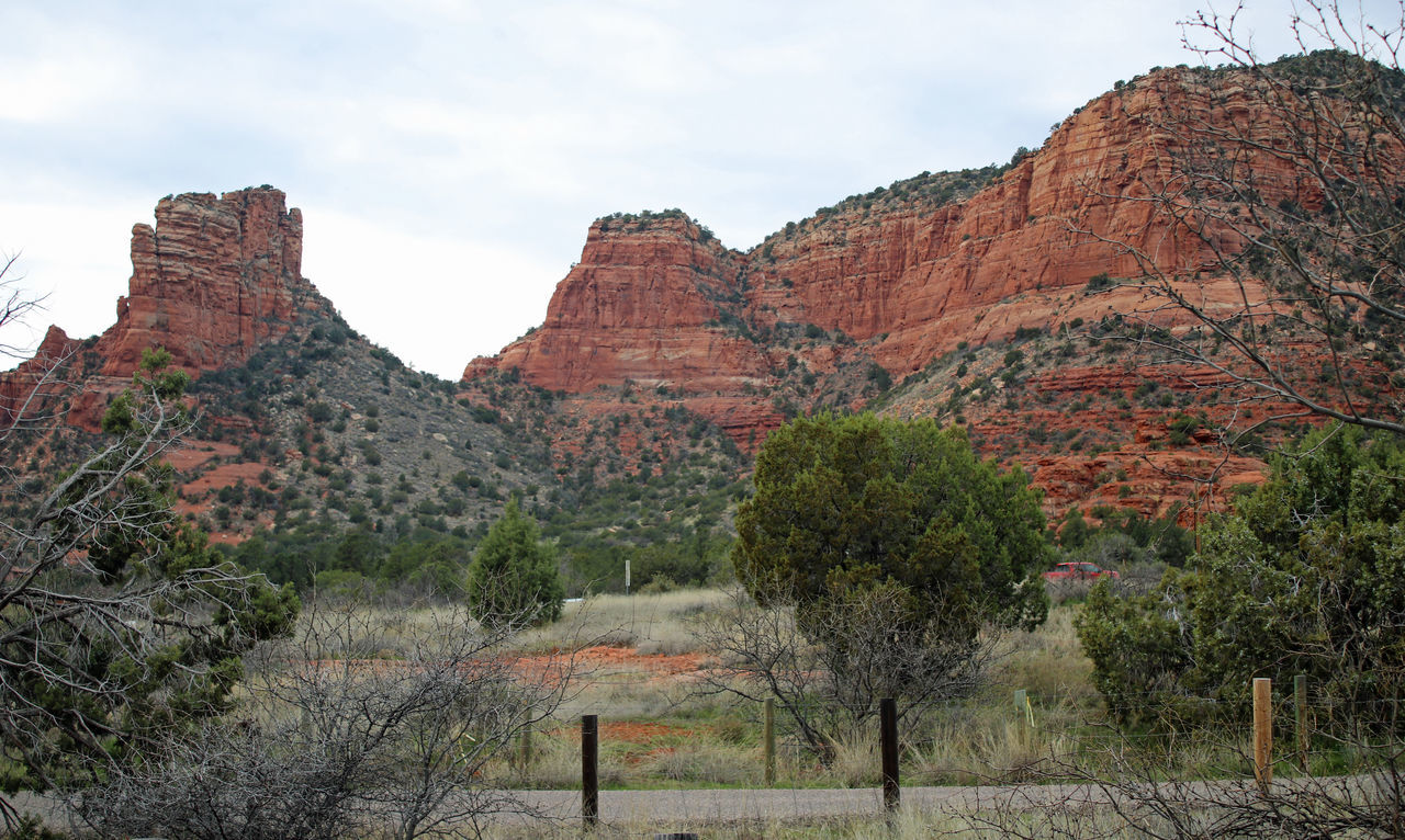 Red Rocks Beauty In Nature Cloud - Sky Day Geology Landscape Large Mountain Nature No People Outdoors Rock - Object Scenics Sedona, Arizona Sky Tourism Travel Destinations Tree Vacations