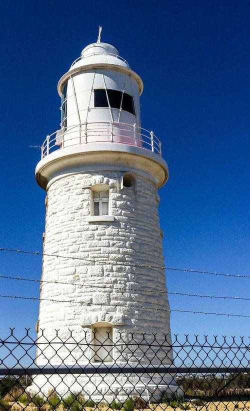 White Side: Woodman Point Lighthouse Coogee Lighthouse Old Historic Western Australia White Coogee Weather Vane Lantern Room Building Landmark Architecture Brick Limestone Half Painted Lighthouse Woodman Point Lighthouse Tower Exterior