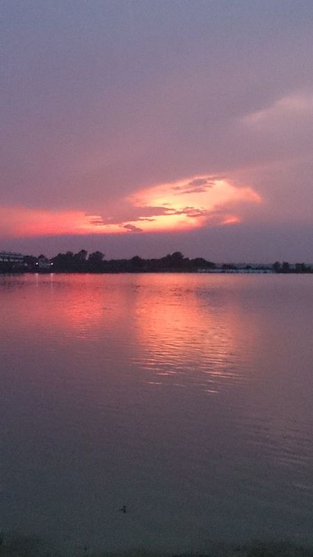 Hello World Sunset Mesmerizingsky Ganga River