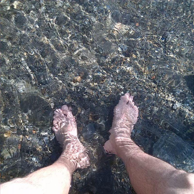 Amb els peus al noguera pallaresa...gelada es poc.... Alins Paradis Ilovemountains Altpirineu elriuesvida