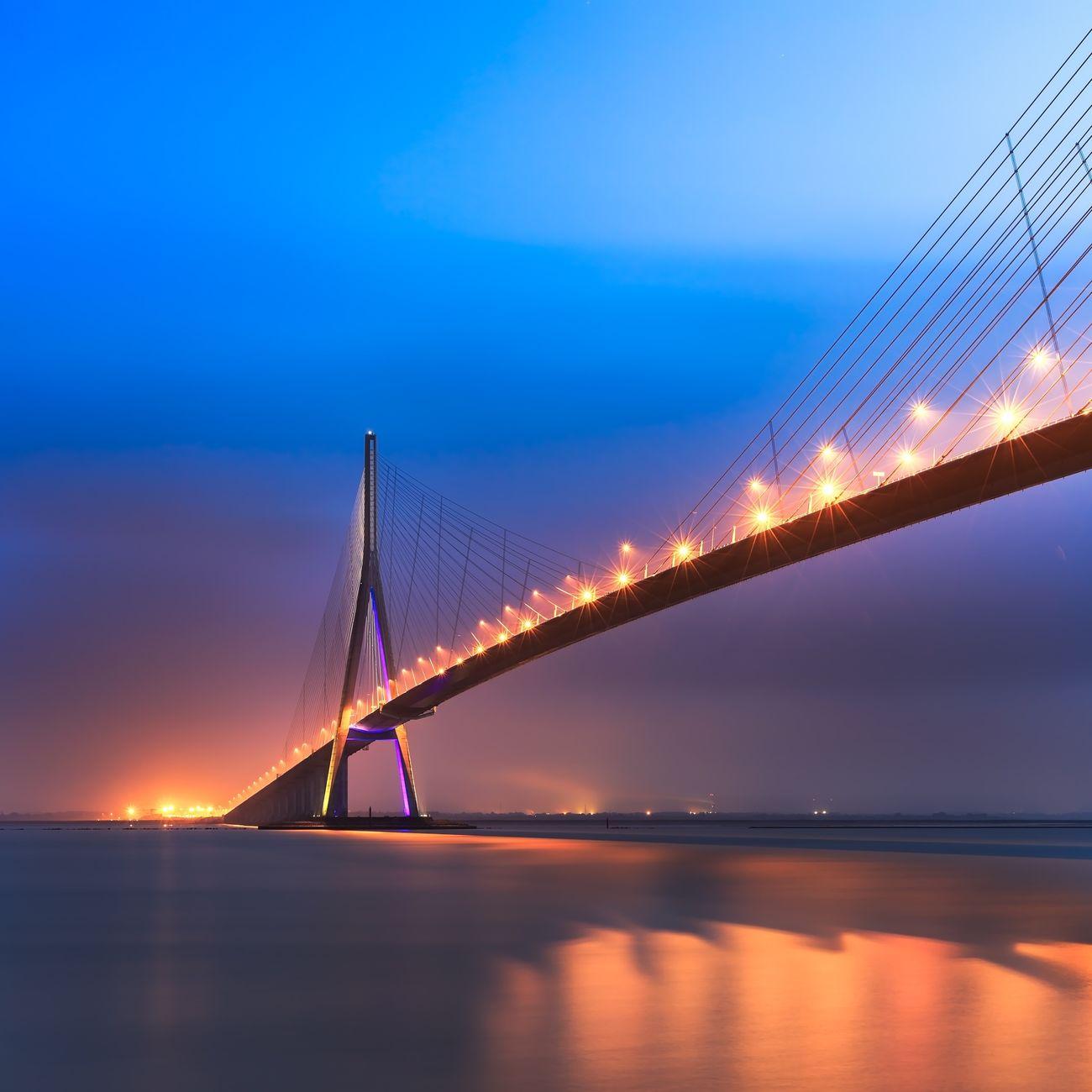 Normandie France Bridge Sunrise