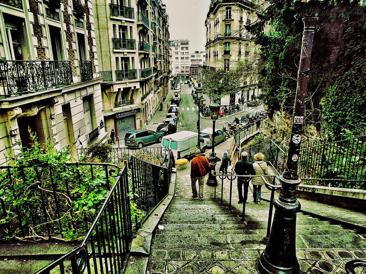 Downstairs from Sacre Coeur Saturday Afternoon Little Streets People In The Streets No Car Traffic Old Buildings Cityscape City View  Urban Landscape Urban Lifestyle Paris France 🇫🇷 The Street Photographer - 2016 EyeEm Awards