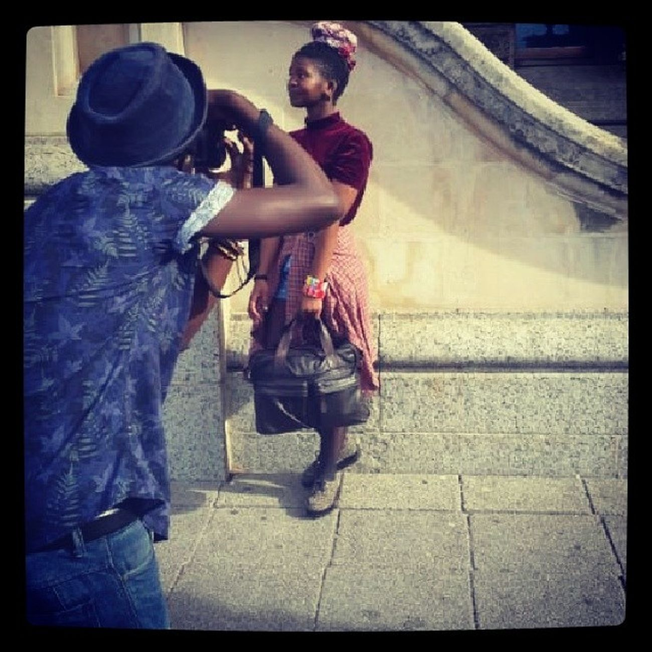 Behind the scenes yesterday's photoshoot with Anita Mbarlee Andy