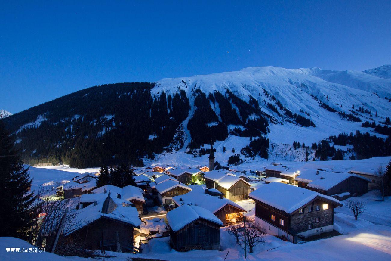 Rueras By Night Rueras Surselva Graubünden Nightphotography Good Night Nachtaufnahme Bergdorf Village Switzerland