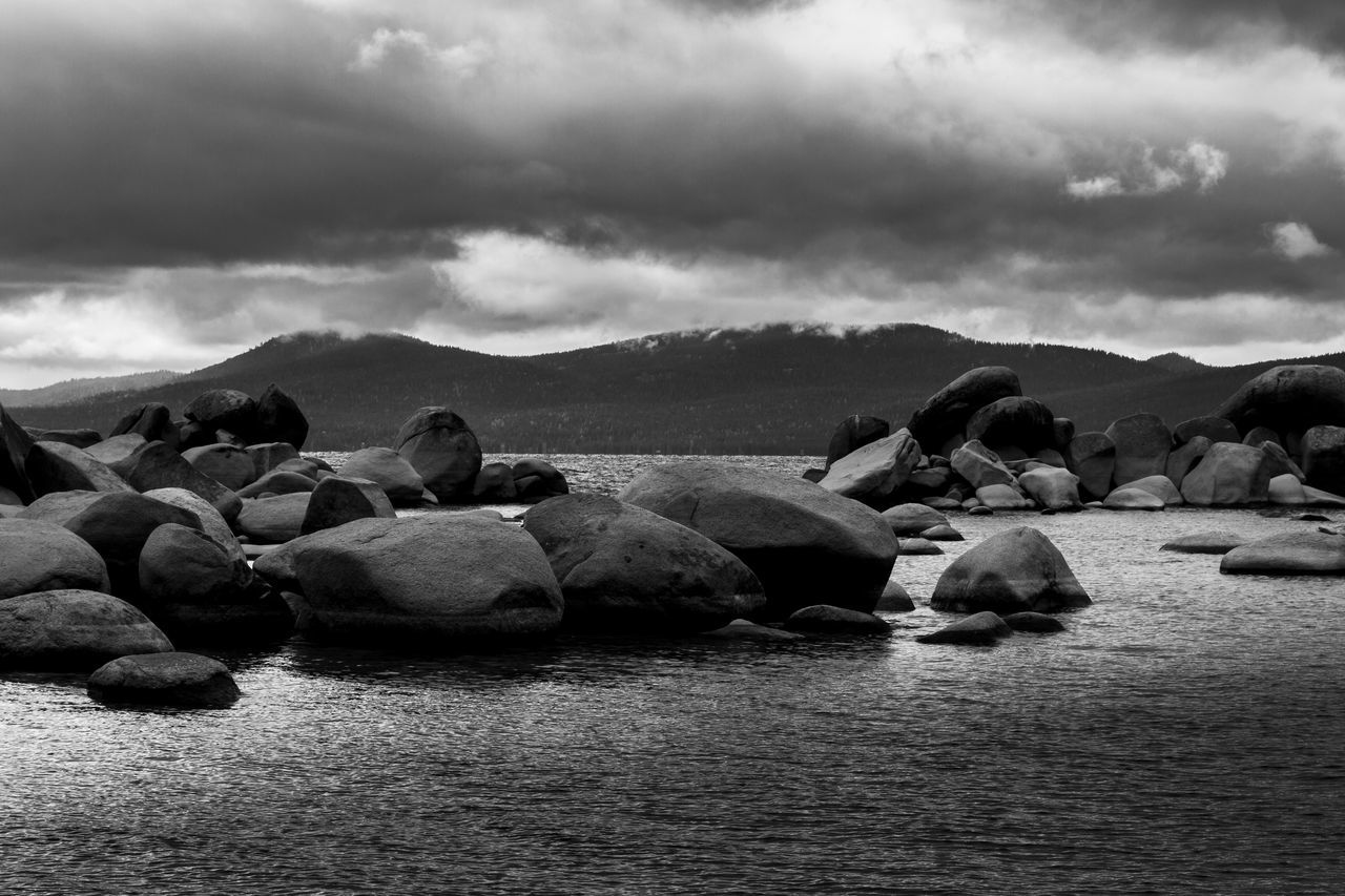 Beauty In Nature Blackandwhite California EyeEm EyeEm Best Shots EyeEm Gallery EyeEm Nature Lover Lake Lake Tahoe Lake View Nature No People Outdoors Peaceful Rocks Rocks And Water Serenity This Week On Eyeem Tranquility Water