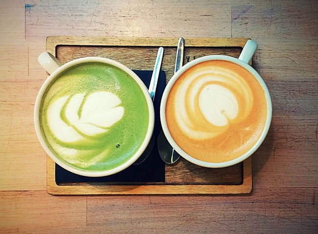 Yin & Yang Chai Latte @Prague Drink Coffee - Drink Food And Drink Refreshment Freshness Healthy Eating Latte Healthy Lifestyle Close-up Indoors  Cozy Takeabreak Foodart Prague Holiday Drinking Having Fun Yolo EyeEm Gallery Eyeemphotography Colors