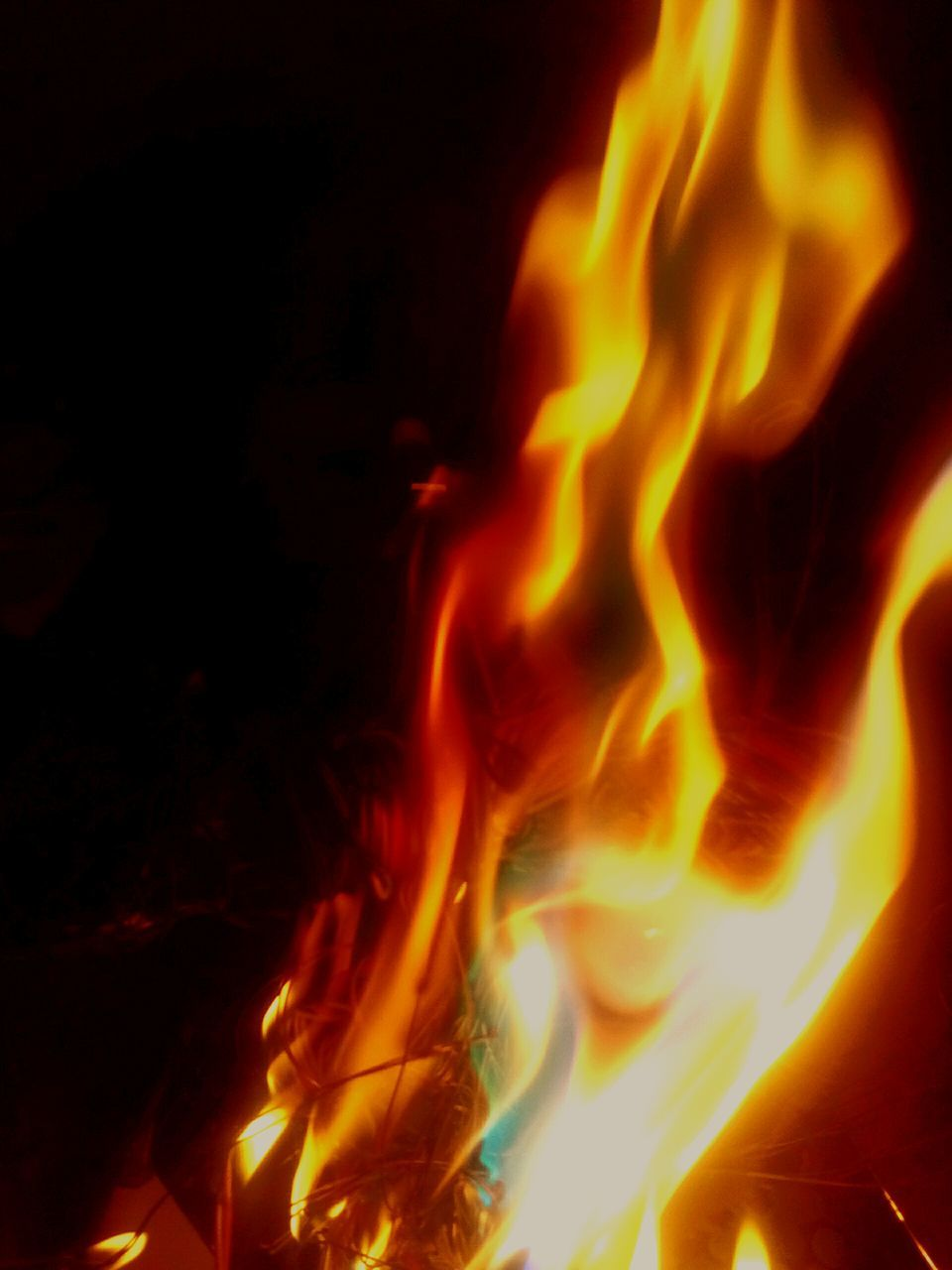 burning, flame, heat - temperature, night, no people, motion, close-up, yellow, bonfire, outdoors, nature