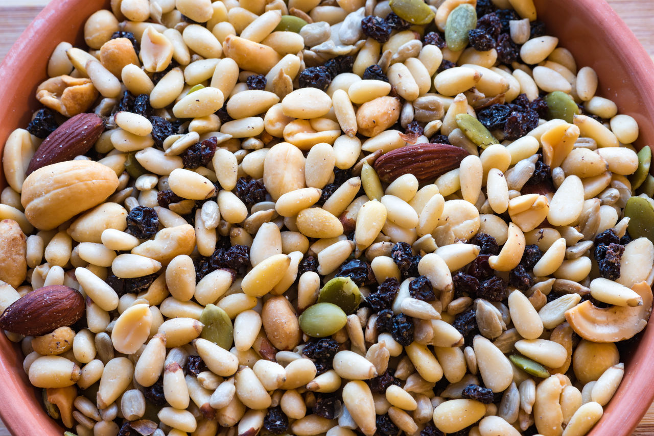 Seeds deluxe mix or mixture in plate. Seeds have become essential for a healthy diet and nutrition Abundance Almonds Balanced Diet Close-up Food Food Ingredient Freshness Indulgence Mix Mixture  No People Peanut Pinenuts Protein Ready-to-eat Salad Ingredients Seed Seeds Source Of Life Still Life Vegetable