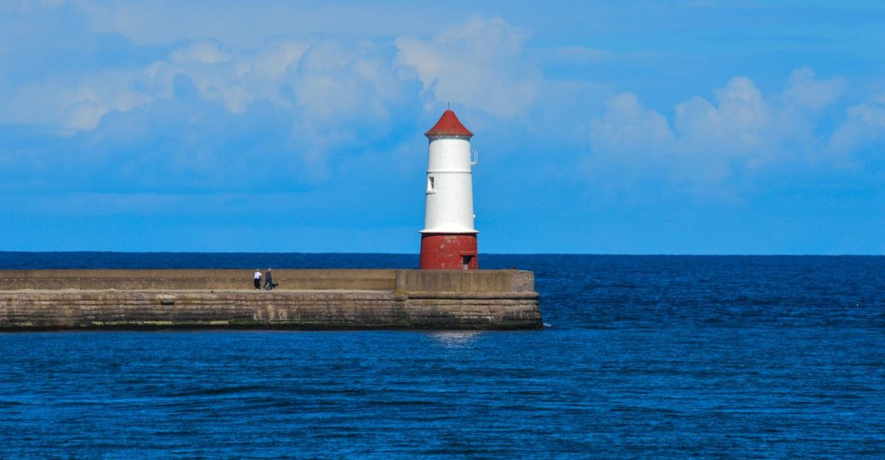 Lighthouse at Spittal Beach, Berwick upon Tweed, Northumberland Lighthouse Lighthouse_captures Lighthousephotography Spittal Berwickupontweed Berwick-upon-tweed Berwick Beach Beach Photography Water Sea And Sky Seascape