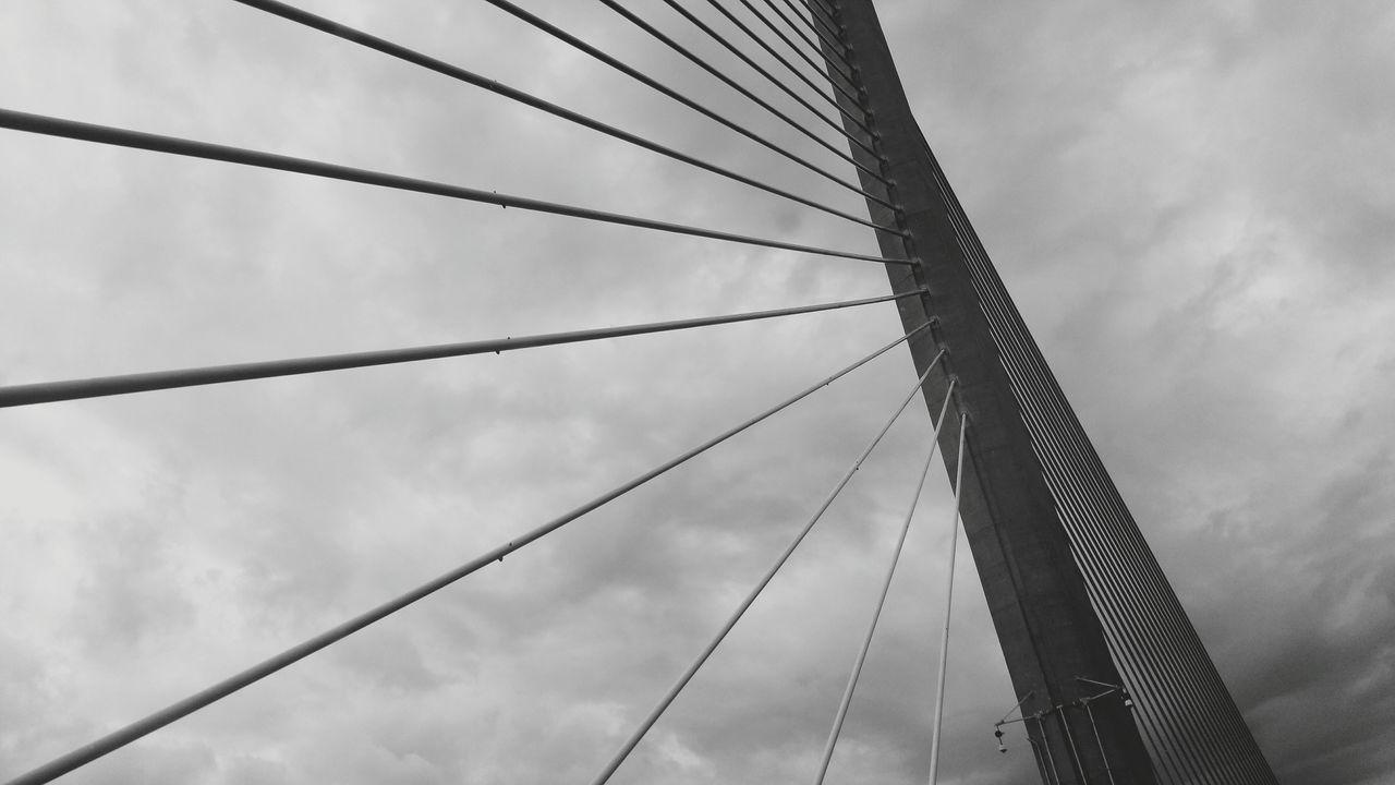 Steel Sky Cable Day Outdoors Bridge Bridge View Skyway Bridge Stpetersburg Florida Sarasota Ft. Meyers Beach Perspective Point Of View Abstract The Architect - 2017 EyeEm Awards EyeEmNewHere