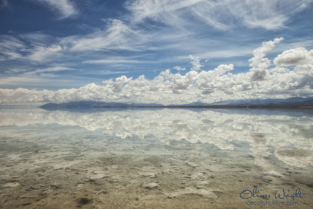 Nature Tranquility Sky Outdoors Day Cloud - Sky Beauty In Nature Tranquil Scene No People Landscape Blue Water Salt Flat Salt Las Salinas Argentina Landscapes Jujuy Salt - Mineral Travel Destinations Tranquility Nature Beauty In Nature EyeEmNewHere