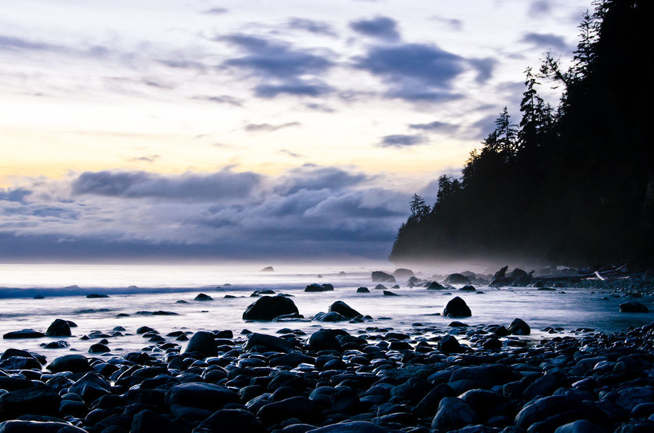 Beach Beauty In Nature British Columbia Canada Cloud - Sky Cold Temperature Day Nature No People Outdoors Scenics Sea Sky Sunset Tranquility Water