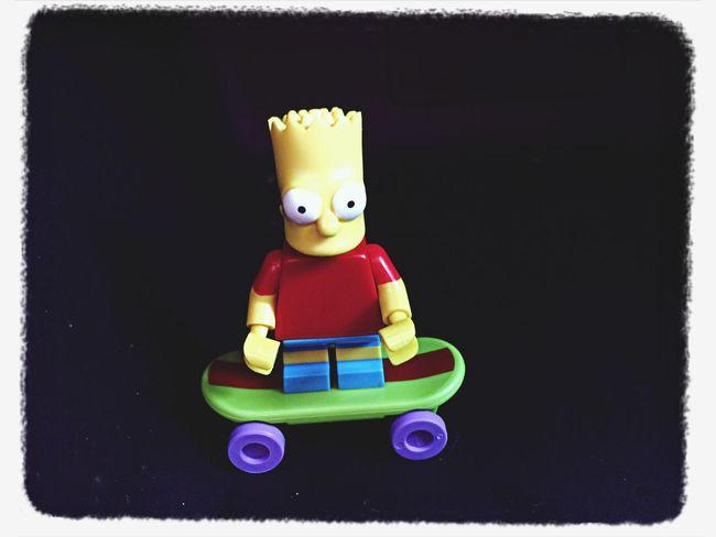 Skate board Bart Simpson Lego