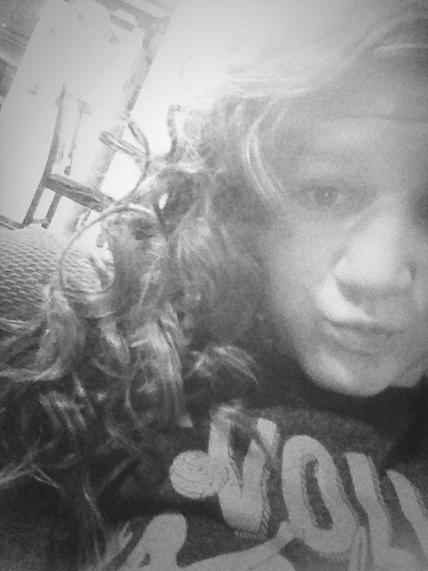 Curly hair #black #white #no #makeup