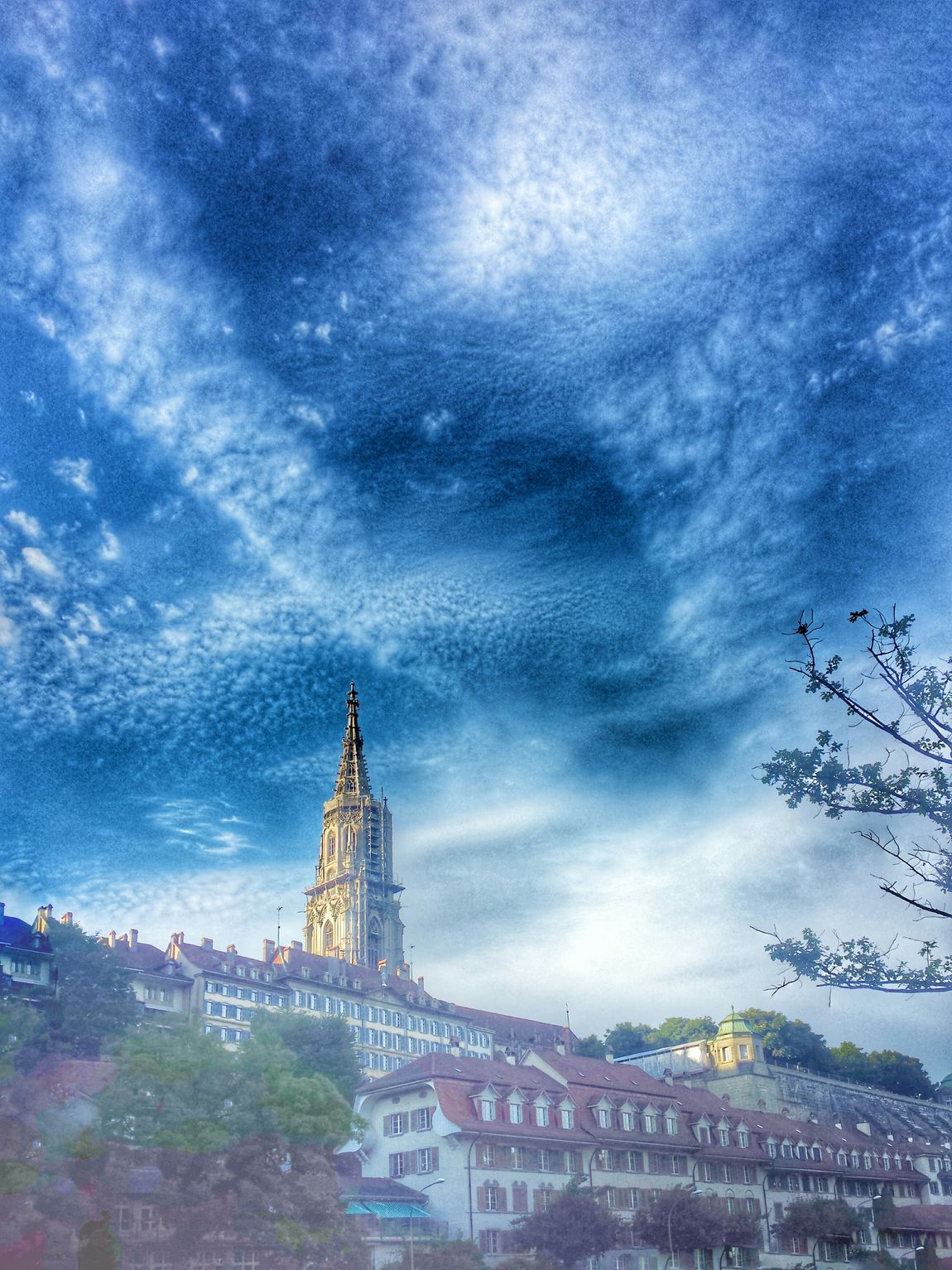 Berner Münster Cityscape Cityscapes Sky And Clouds Bern Switzerland Urban Spring Fever