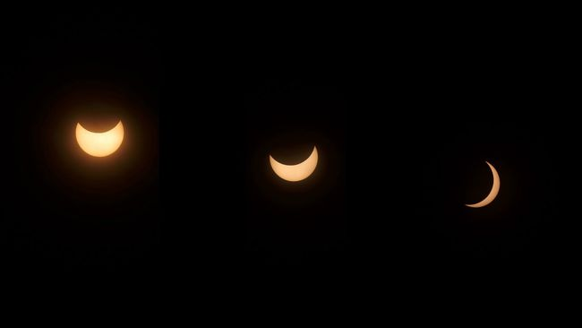 ...highlights Solar Eclipse 2016 Solar Eclipse Check This Out Showcase March Taking Photos Eclipse Of The Sun Astrophotography Yellow Eclipse Colage The Sun The Moon Indonesia_photography