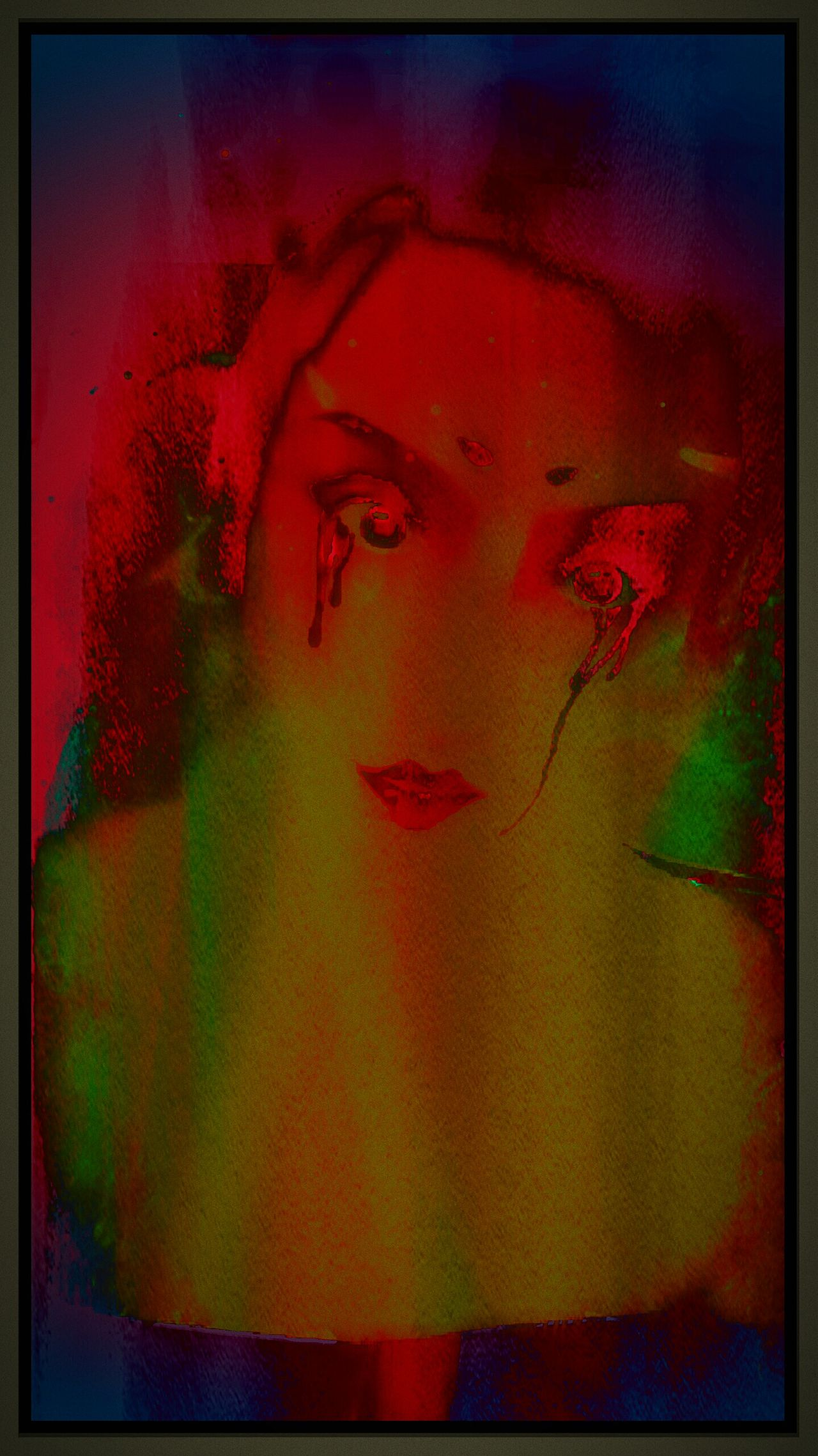 Twilight Lovely Bright Colors In Darkness Oddity Sexygirl Emo Bizarre Art The Twilight Zone Night Gallery Darkartist Mercurial Foreboding Horrorart Nightmare Nightscape Art, Drawing, Creativity Darkart Creative Light And Shadow Darkness And Light Shadows & Lights Grunge Art Trippy