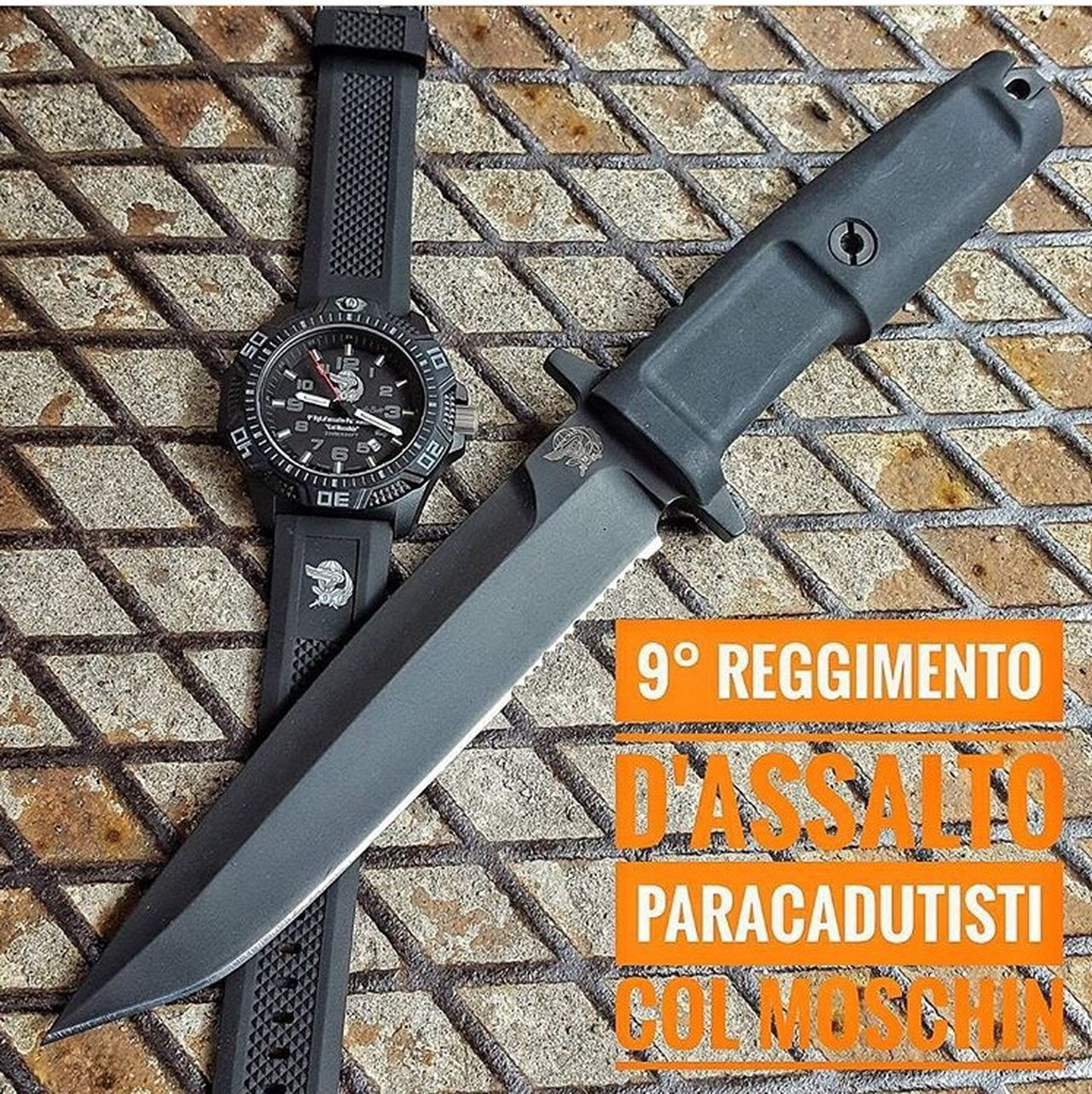 Col Moschin tactical knife with Memphis Belle watch model Guastatore Follow 👉 @coltelleriacollini 👈 to have fresh updates everyday! First Eyeem Photo Knives Knife Blades Watch Watch The Clock Tactical Army Military