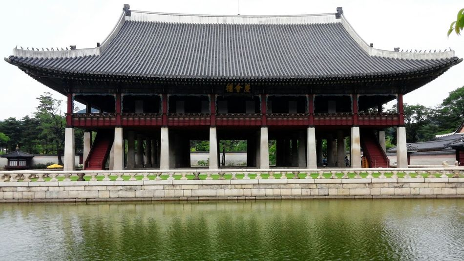 Korean Kingpalace Water Reflections Architecture