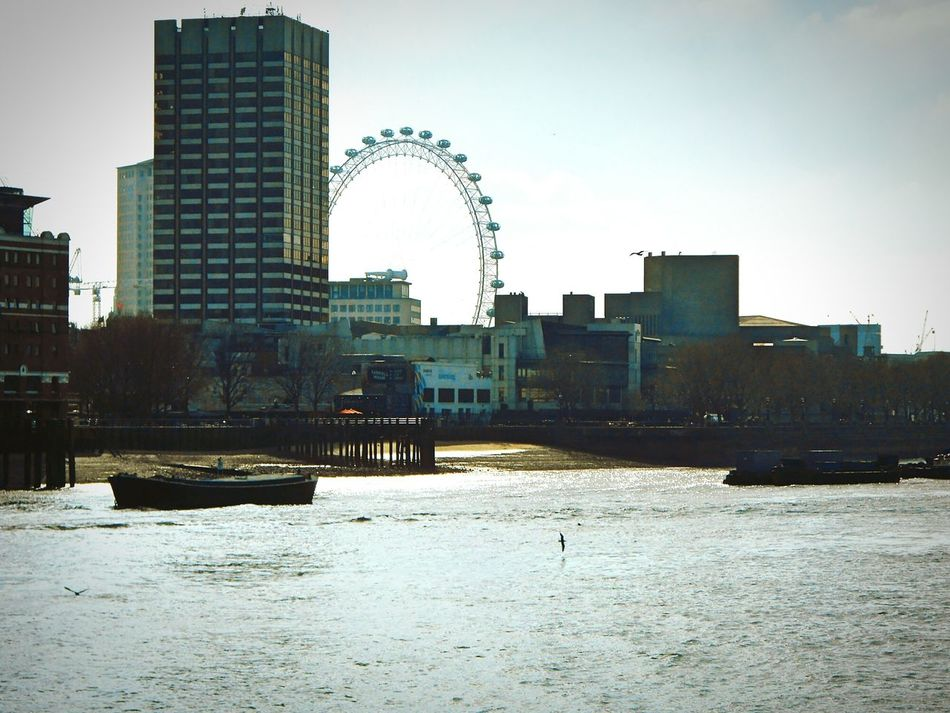 Taken by me on my Nikon S3200 on 16th March 2016. Urban LondonEye VictoriaEmbankment London Uk Europe 2016