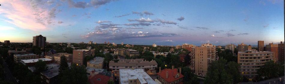 Denver Sunset Over Denver City Sunsets Panorama