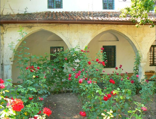 And a picture of something I miss this time of year: color... Palace Bakhchysarai Roses Ukraine