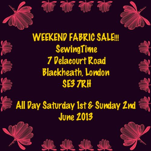 Weekend Fashion Sewing Fabric Sale