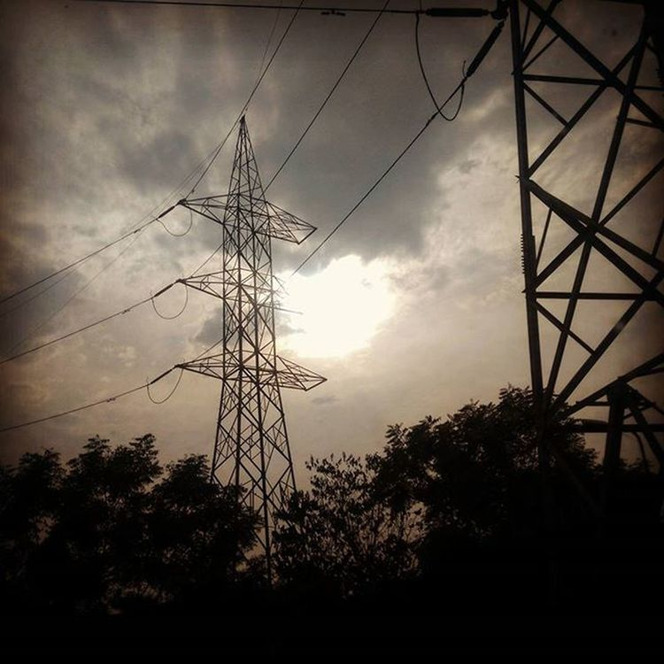 The Color Of Technology Electrictower Electric Electrified Electricdesignz Sun Greenery Wire Traplife Sunset Clouds Trees Photooftheday Yashanshnaturesphotography