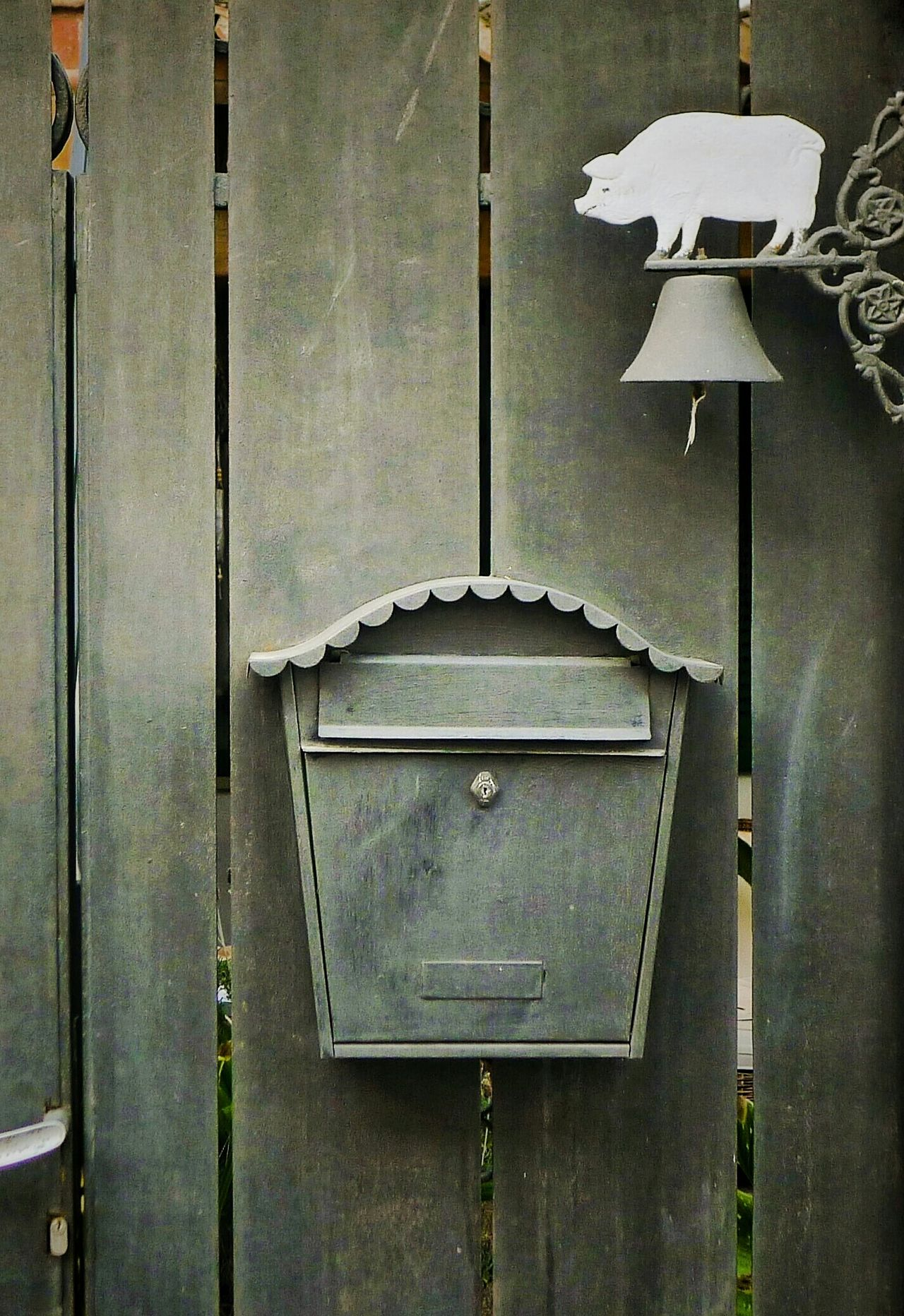 Mailbox Pig BellDoor Details Cheese! Full Frame No People Outdoor Photography Simplicity Is Beauty. Simple Things