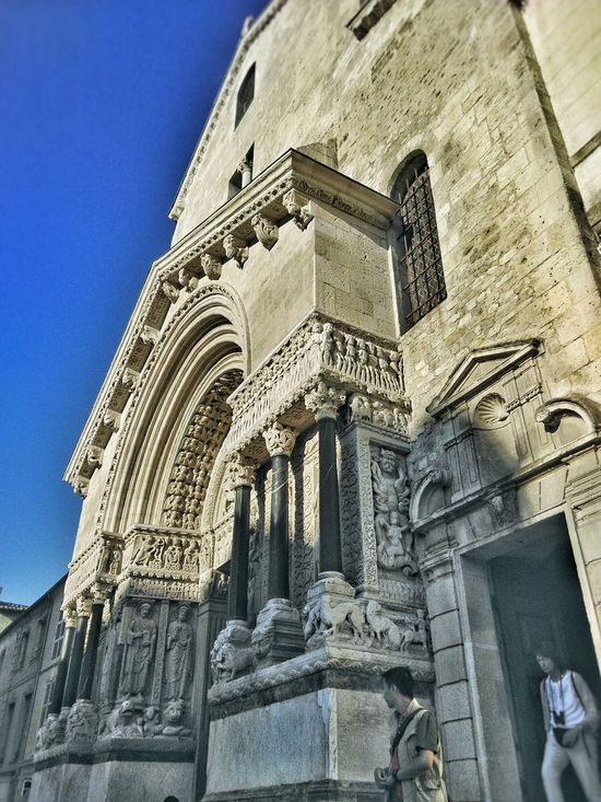 Animal Representation Arch Architecture Blue Built Structure Church Day Façade Historic History Low Angle View Lumicar Monster Outdoors People Tourist Sky Stone Carving Tourism Travel Destinations