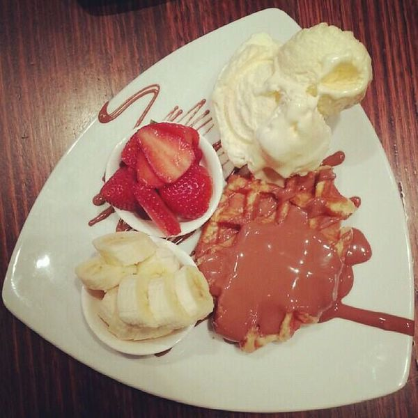 Coffee And Sweets Sweet Max Brenner Australia Fun Times Waffle Strawberry Ice Cream Chocolate