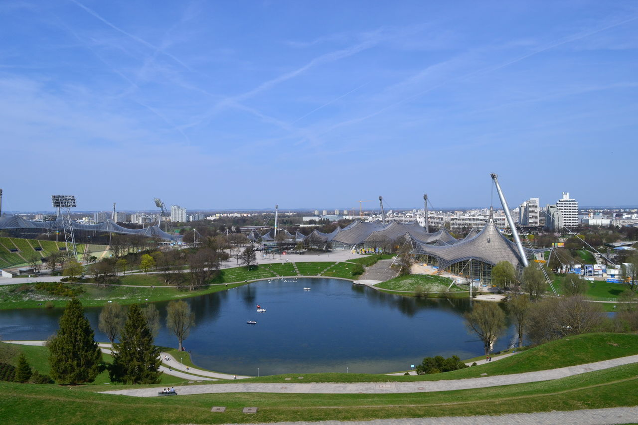 Nikon NikonD7100 Olympiastadion München Architecture Building Exterior Built Structure City Cityscape Day First Eyeem Photo Nature Nikonphotographer Nikonphotography No People Olympiapark München Outdoors Sky Tree Water