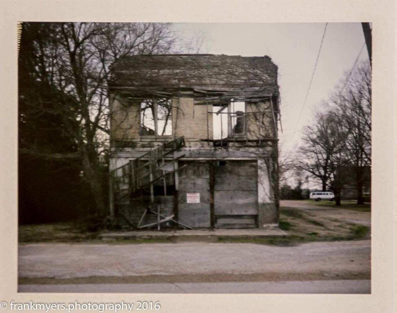 Bryant's Grocery Abandoned Building Exterior Polaroid