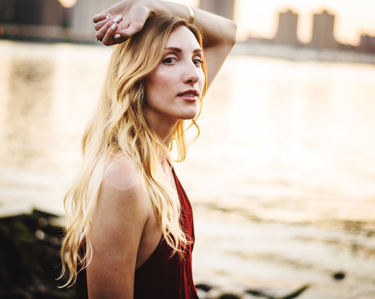 Real People One Person Young Adult Focus On Foreground Long Hair Blond Hair Leisure Activity Young Women Outdoors Portrait Day Beautiful Woman Lifestyles People Photography Lifestyle Fashion Photographer Photooftheday Happiness Water Beautiful People Beauty NYC Model