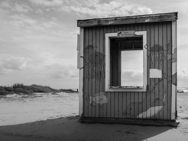 Beach booth in Freeport Texs in B&W Balck And White Beach Beach Day Beach Hut Beach Huts And Sky Beach Life Beach Photography Beach Walk Beaches Black & White Black And White Black And White Photography Blackandwhite Blackandwhite Photography Clouds And Sky Fine Art Photography Fish Jelly Fish Jellyfish Painting Sunlight Sunlight And Shadow Toll Booth Wooden Hut