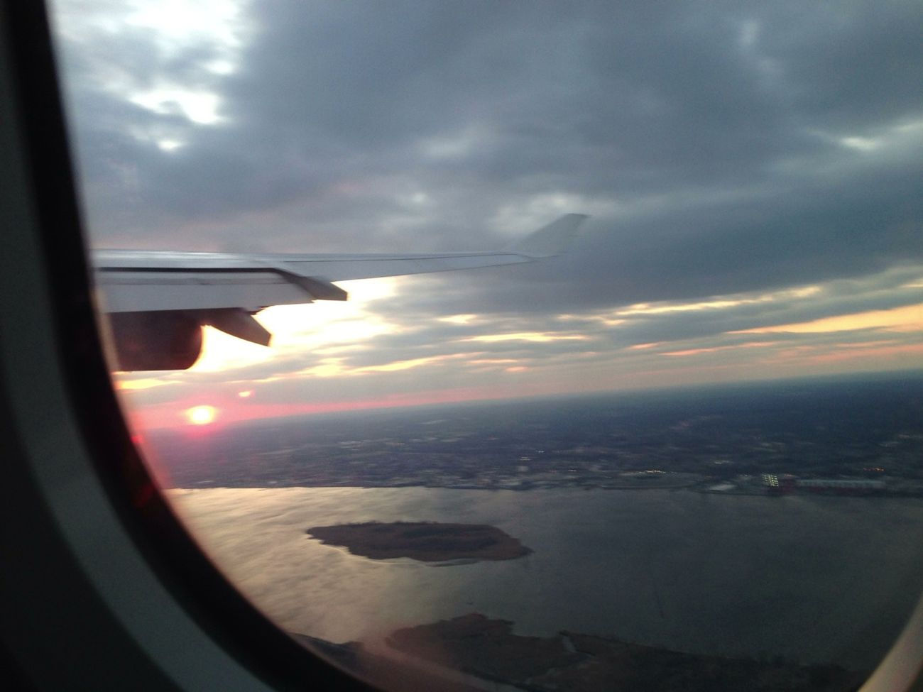 River Sunset Departing Delaware