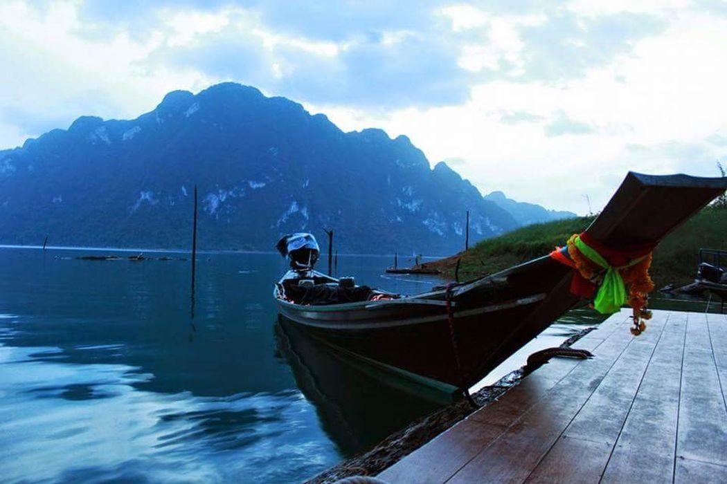 Travel Good Morning Beautiful Nature Longtail Boats Thailandtravel ThailandOnly Ratchaprapa Dam Suratthani