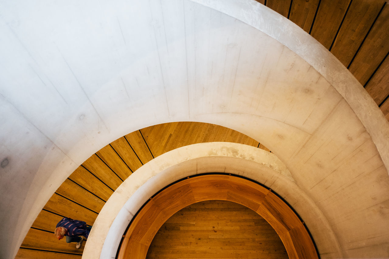 Architecture Art Gallery Built Structure Geometric Shape Indoors  London Spiral Staircase Steps Steps And Staircases Switch House Tate Modern