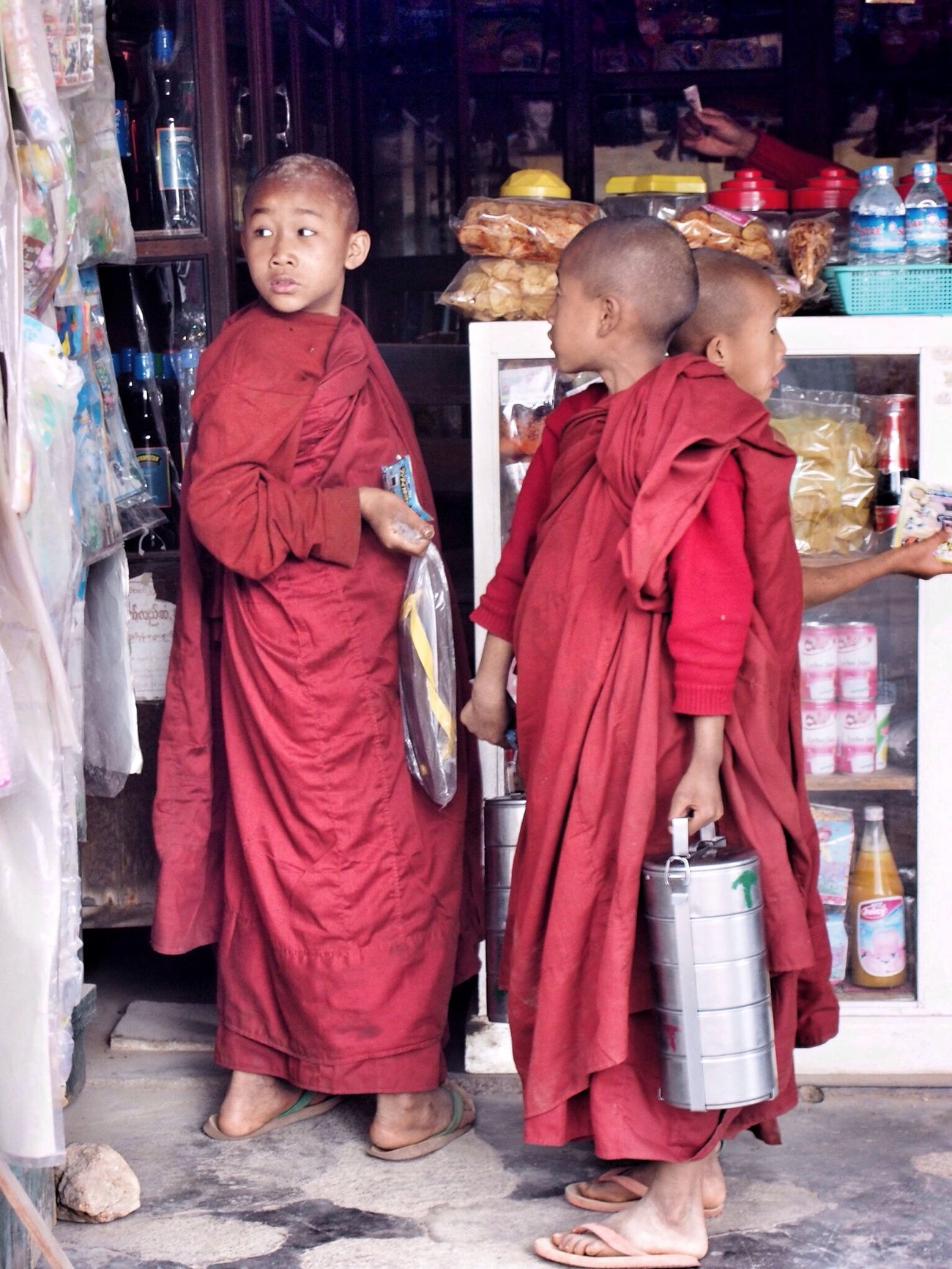 Baby Monks Travel Photography Street Photography Buddhism Myanmar