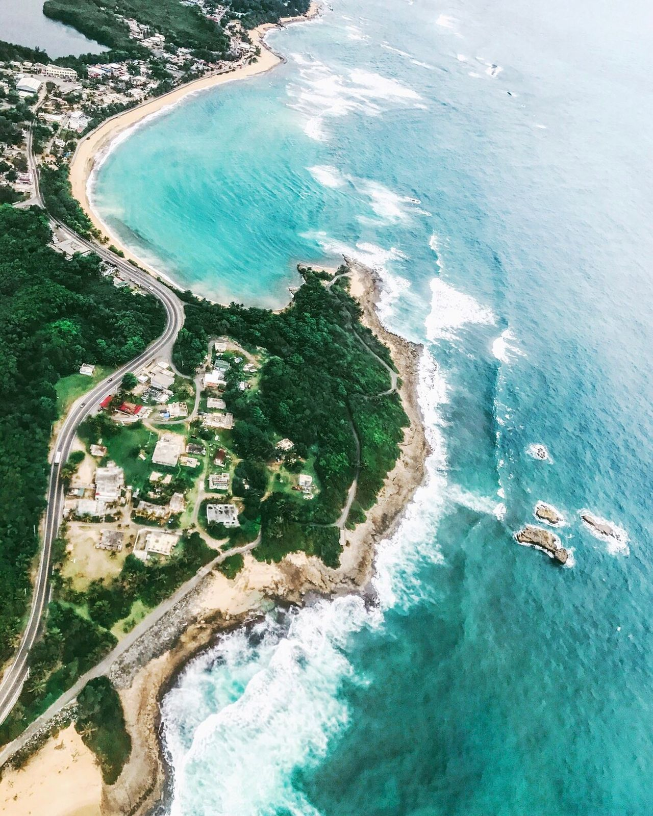 Puerto Rico, I love you and I miss you already, you gorgeous island 😍 Aerial Shot Puerto Rico Aerial Photography In The Air Aerial View High Angle View Water Sea Scenics Nature Beauty In Nature Day Transportation Outdoors Tranquility Mid-air Beach No People Nautical Vessel Landscape Flying Sky Island Ocean Ocean View