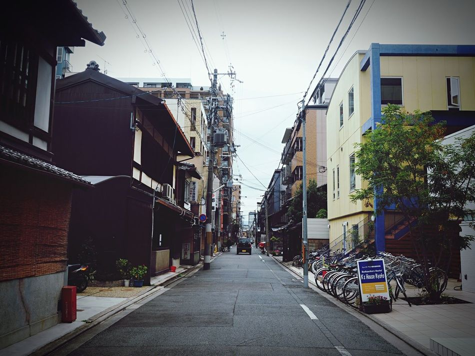 Building Exterior Built Structure Architecture City Street Outdoors The Way Forward City Street Sky Road Day Electricity Pylon No People EyeEm Japan The Week Of Eyeem EyeEm Taiwan EyeEm Best Shots 京都 Kyouto Adapted To The City