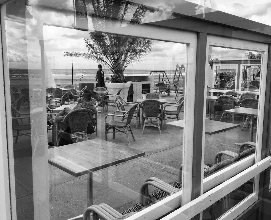Black & White Blackandwhite Schwarzweiß Check This Out Hello World Strand Zandvoort IPhoneography